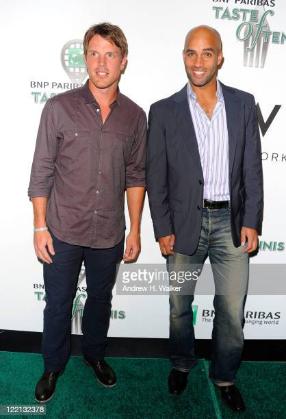 Player Brad Richards and Tennis Player James Blake attend the 12th Annual BNP Paribas Taste of Tennis at W New York Hotel on August 25, 2011 in New...