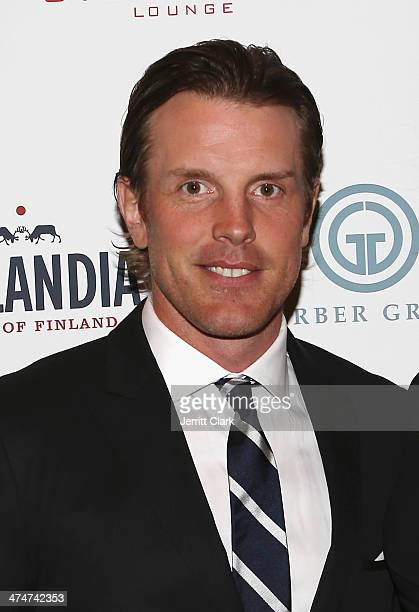 Player Brad Richards the 2nd Annual Brad Richards Foundation Wines of the World at Stone Rose at the Time Warner Center on February 24, 2014 in New...