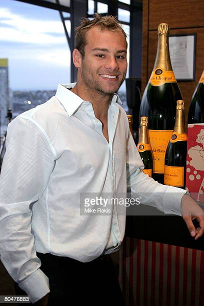 Player Brett Stewart attends the launch of the Astral Champagne Bar in Star City Casino on April 2 2008 in Sydney Australia