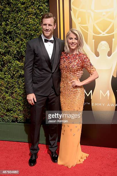 NHL player Brooks Laich and actress Julianne Hough attend the 2015 Creative Arts Emmy Awards at Microsoft Theater on September 12 2015 in Los Angeles...
