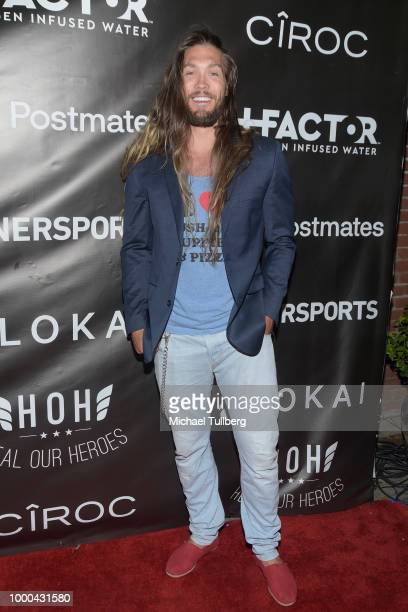 NFL player Bryan Braman attends VaynerSports' 2nd Annual Celebrity ESPY's KickOff Party at Dream Hotel on July 16 2018 in Hollywood California