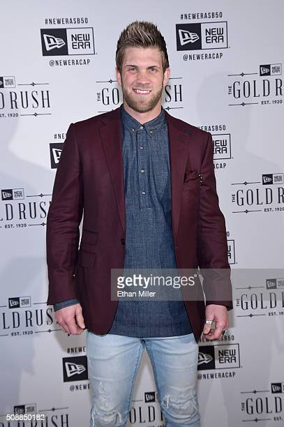 MLB player Bryce Harper attends the New Era Super Bowl party at The Battery on February 6 2016 in San Francisco California