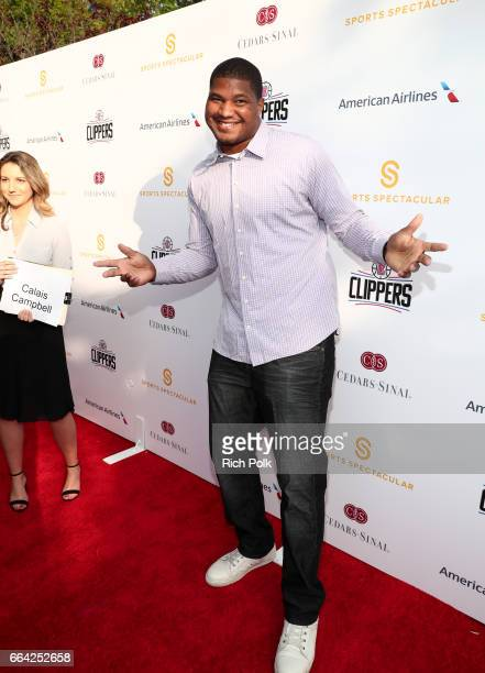 Player Calais Campbell attends 32nd Annual Cedars-Sinai Sports Spectacular at W Los Angeles - Westwood on April 3, 2017 in Los Angeles, California.