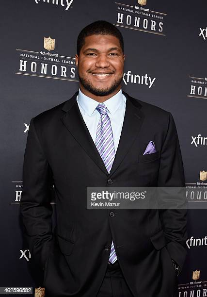 NFL player Calais Campbell attends the 4th Annual NFL Honors at Phoenix Convention Center on January 31 2015 in Phoenix Arizona