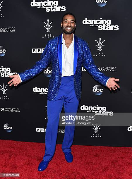 NFL player Calvin Johnson attends ABC's 'Dancing With The Stars' Season 23 Finale at The Grove on November 22 2016 in Los Angeles California