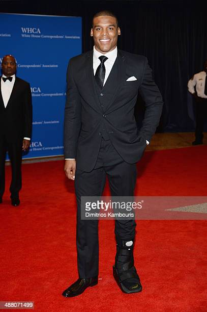 NFL player Cam Newton attends the 100th Annual White House Correspondents' Association Dinner at the Washington Hilton on May 3 2014 in Washington DC
