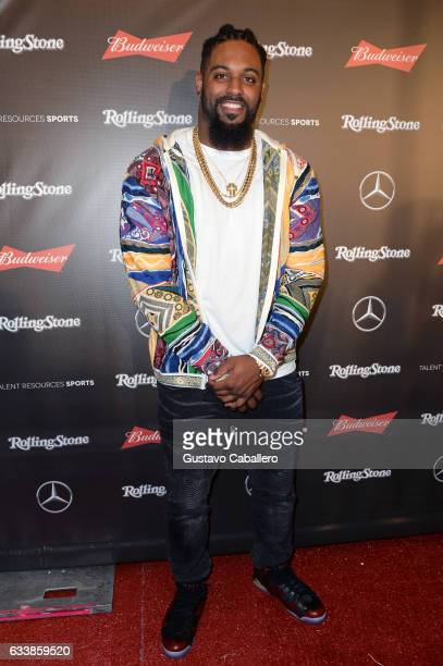 NFL player Cameron Jordan at the Rolling Stone Live Houston presented by Budweiser and MercedesBenz on February 4 2017 in Houston Texas Produced in...