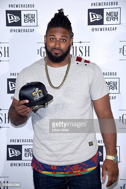 NFL player Cameron Jordan attends the New Era Super Bowl party at The Battery on February 6 2016 in San Francisco California