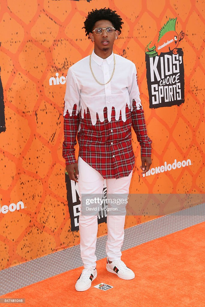NBA player Cameron Payne arrives at the Nickelodeon Kids' Choice Sports Awards 2016 at the UCLA's Pauley Pavilion on July 14, 2016 in Westwood, California.