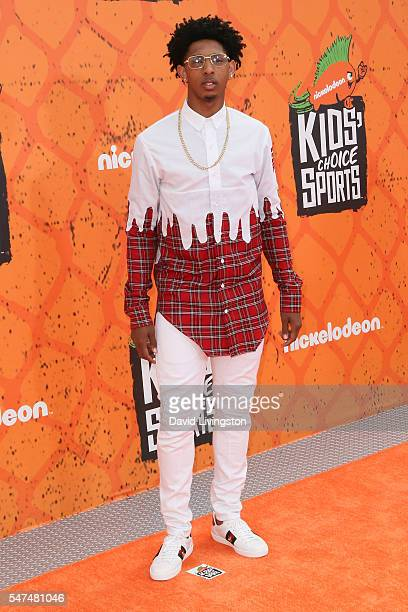 NBA player Cameron Payne arrives at the Nickelodeon Kids' Choice Sports Awards 2016 at the UCLA's Pauley Pavilion on July 14 2016 in Westwood...