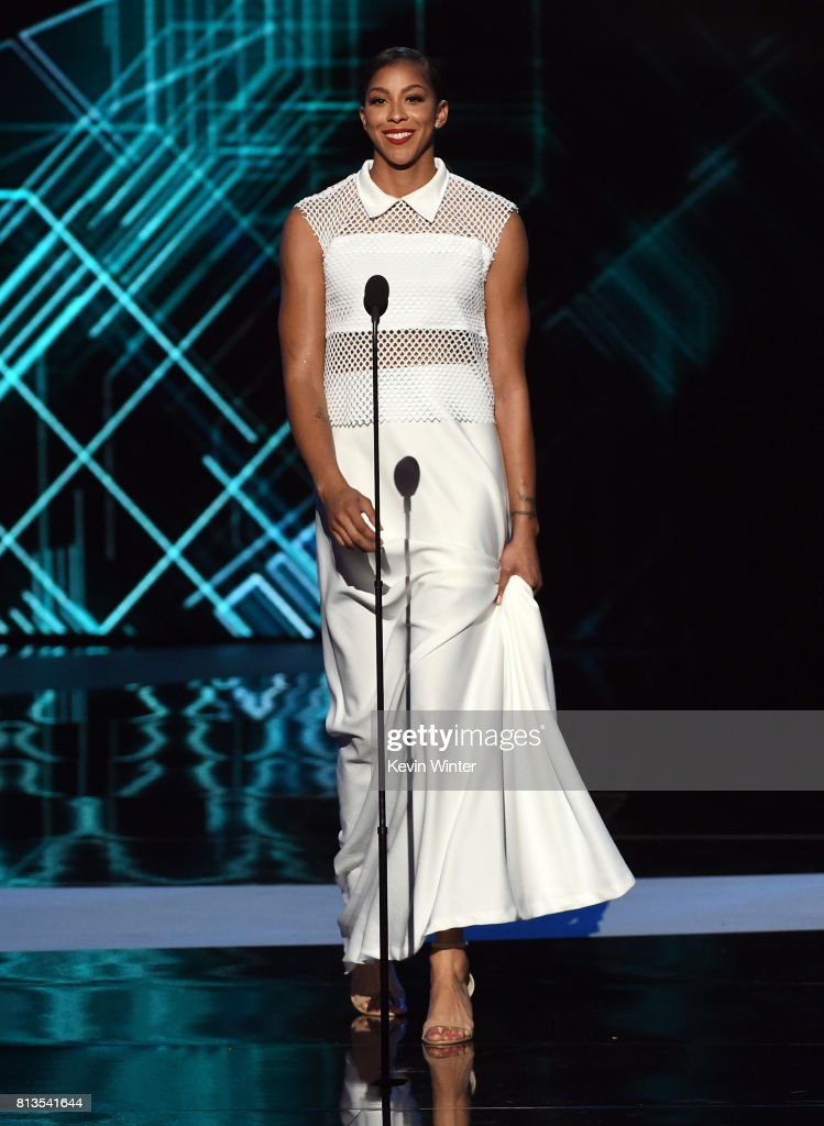 WNBA player Candace Parker speaks onstage at The 2017 ESPYS at Microsoft Theater on July 12, 2017 in Los Angeles, California.