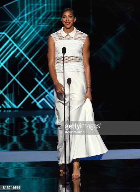 WNBA player Candace Parker speaks onstage at The 2017 ESPYS at Microsoft Theater on July 12 2017 in Los Angeles California