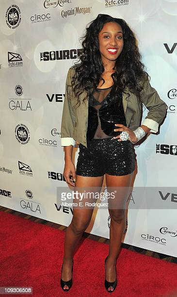 WNBA player Candice Wiggins arrives to the National Basketball Players Association AllStar Gala on February 19 2011 in Los Angeles California