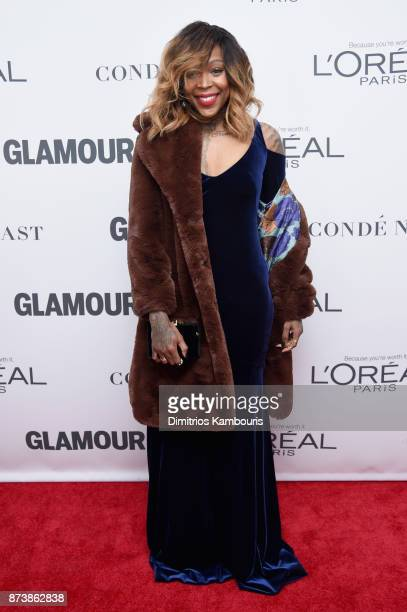 WNBA player Cappie Pondexter attends Glamour's 2017 Women of The Year Awards at Kings Theatre on November 13 2017 in Brooklyn New York