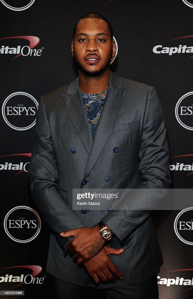 NBA player Carmello Anthony attends The 2014 ESPY Awards at Nokia Theatre L.A. Live on July 16, 2014 in Los Angeles, California.