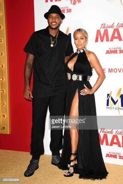 NBA player Carmelo Anthony and actress LaLa Anthony attend the premiere of 'Think Like A Man Too' at TCL Chinese Theatre on June 9 2014 in Hollywood...
