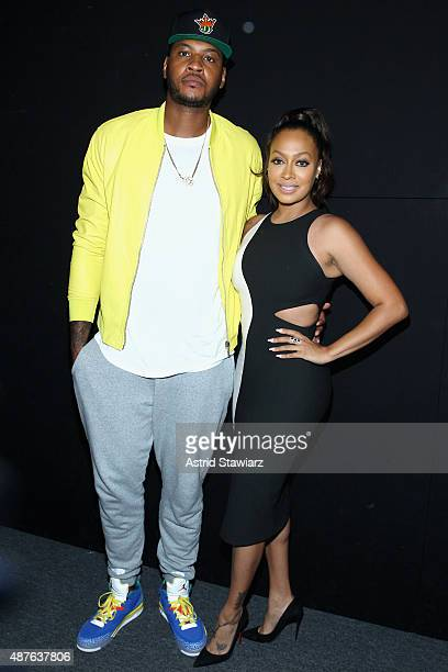 NBA player Carmelo Anthony and TV personality La La Anthony attend the Kids Rock fashion show during Spring 2016 New York Fashion Week The Shows at...