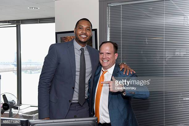 NBA player Carmelo Anthony attends Annual Charity Day Hosted by Cantor Fitzgerald and BGC at BGC Partners INC on September 11 2014 in New York City