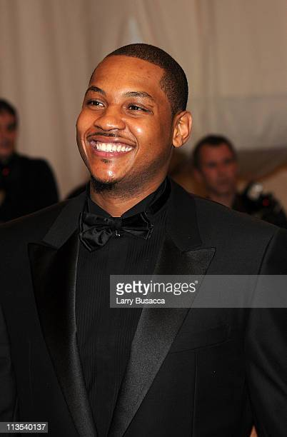 NBA player Carmelo Anthony attends the Alexander McQueen Savage Beauty Costume Institute Gala at The Metropolitan Museum of Art on May 2 2011 in New...
