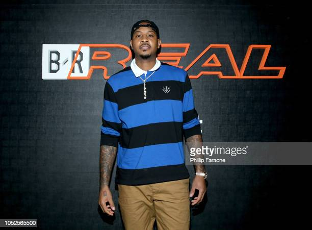 Player Carmelo Anthony attends the B/Real Premiere Event at Kimpton La Peer Hotel on October 19, 2018 in West Hollywood, California.