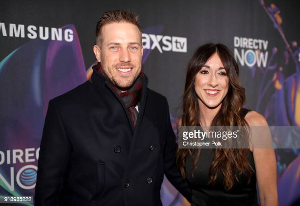 NFL player Case Keenum and Kimberly Keenum attend the 2018 DIRECTV NOW Super Saturday Night Concert at NOMADIC LIVE at The Armory on February 3 2018...