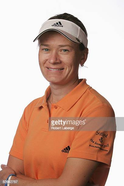 LPGA player Catriona Matthew poses for a portrait prior to the start of the Safeway International at Superstition Mountain Golf and Country Club on...