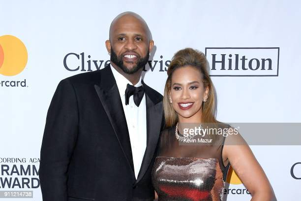 MLB player CC Sabathia and Amber Sabathia attend the Clive Davis and Recording Academy PreGRAMMY Gala and GRAMMY Salute to Industry Icons Honoring...