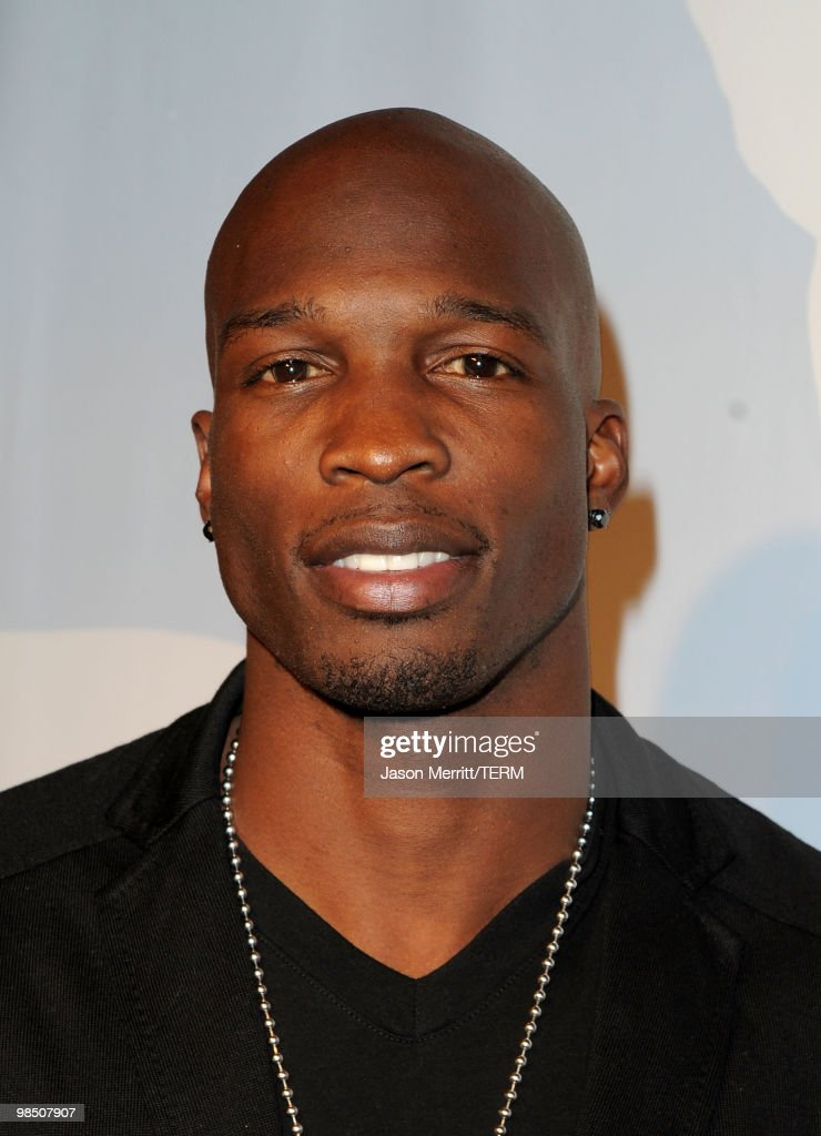 NFL Player Chad Ochocinco Johnson arrives at the Children Mending Hearts 3rd Annual 'Peace Please' Gala held at The Music Box at the Fonda Hollywood on April 16, 2010 in Los Angeles, California.