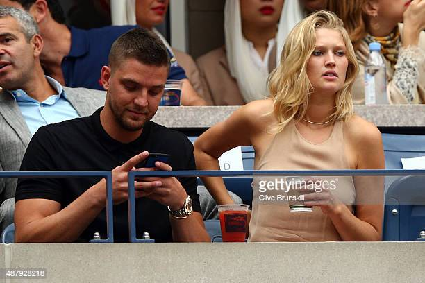 NBA player Chandler Parsons and model Toni Garrn attend the Women's Singles Final match between Roberta Vinci of Italy and Flavia Pennetta of Italy...