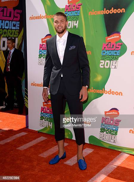 NBA player Chandler Parsons attends Nickelodeon Kids' Choice Sports Awards 2014 at UCLA's Pauley Pavilion on July 17 2014 in Los Angeles California