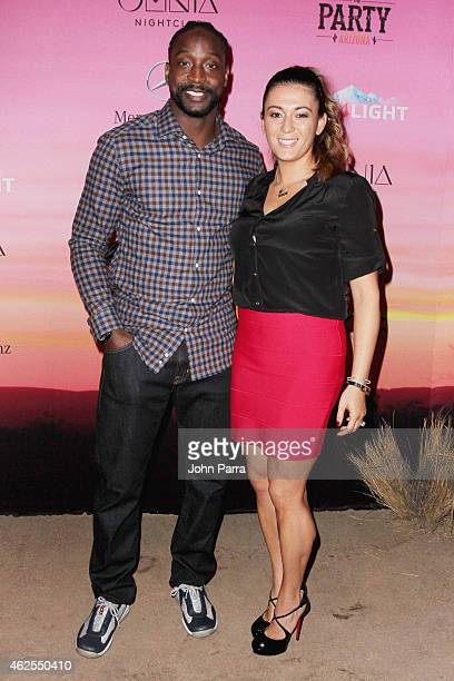 NFL player Charles Tillman and Jackie Tillman attend ESPN the Party at WestWorld of Scottsdale on January 30 2015 in Scottsdale Arizona