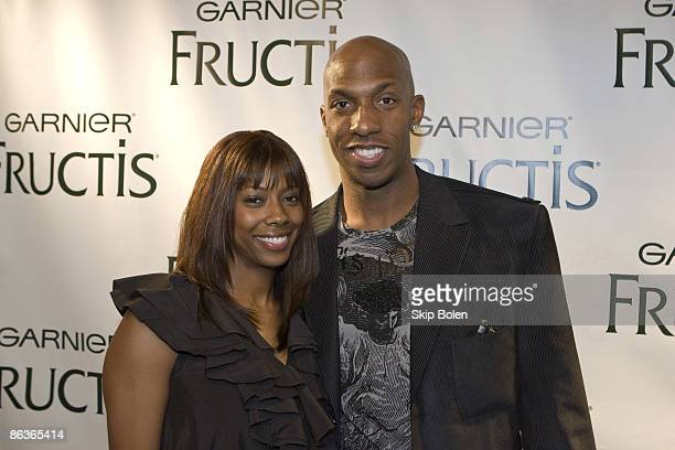 NBA player Chauncey Billups and his wife Piper Riley arriving at the NBPA's AllStar Gala presented by Garnier Fructis at the Ernest N Morial...