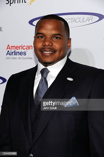 NFL player Chester Pitts arrives at the 2011 Cedars Sinai Sports Spectacular at Hyatt Regency Century Plaza on May 22 2011 in Beverly Hills California