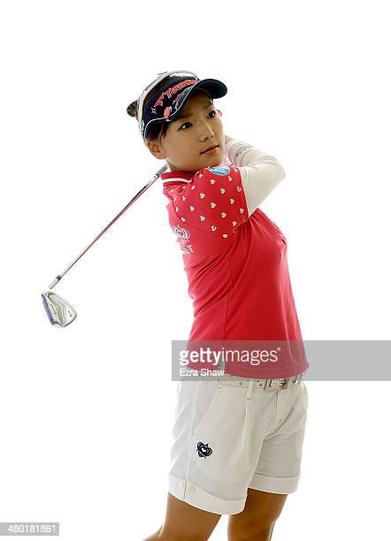 LPGA player Chie Arimura of Japan poses for a portrait prior to the start of the Founders Cup at the JW Marriott Desert Ridge Resort on March 19 2014...