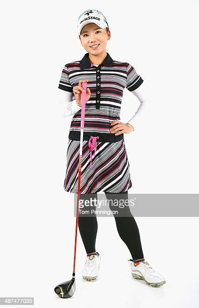 LPGA player Chie Arimura of Japan poses for a portrait prior to the start of the North Texas LPGA Shootout Presented by JTBC at the Las Colinas...