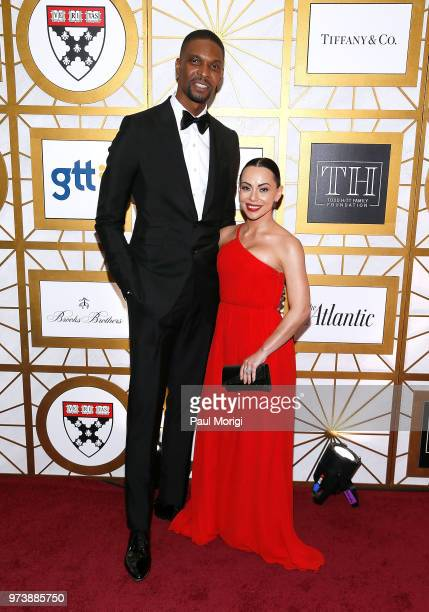 NBA player Chris Bosh and Adrienne Bosh attend the Harvard Business School Club's 3rd Annual Leadership Gala Dinner at the Four Seasons Hotel on June...