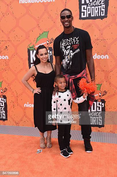 NBA player Chris Bosh and family attend the Nickelodeon Kids' Choice Sports Awards 2016 at UCLA's Pauley Pavilion on July 14 2016 in Westwood...