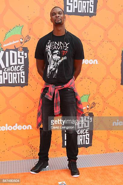 NBA player Chris Bosh arrives at the Nickelodeon Kids' Choice Sports Awards 2016 at the UCLA's Pauley Pavilion on July 14 2016 in Westwood California