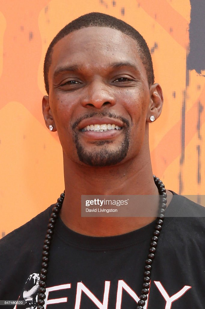 NBA player Chris Bosh arrives at the Nickelodeon Kids' Choice Sports Awards 2016 at the UCLA's Pauley Pavilion on July 14, 2016 in Westwood, California.