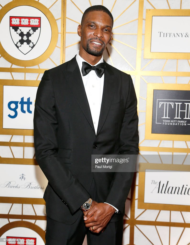 NBA player Chris Bosh attends the Harvard Business School Club's 3rd Annual Leadership Gala Dinner at the Four Seasons Hotel on June 13, 2018 in Washington, DC.