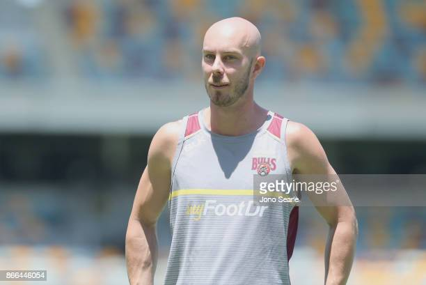 QLD player Chris Lynn is seen before the start of play of day one of the Sheffield Shield match between Queensland and Victoria at the Gabba on...