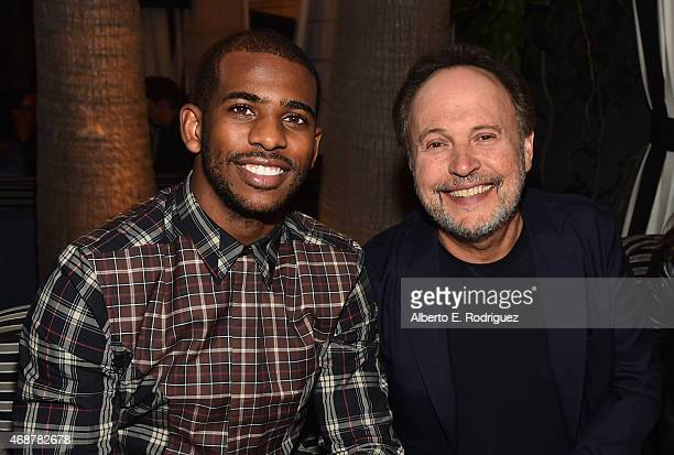 NBA player Chris Paul and actor Billy Crystal attend the after party for the premiere of FX's 'The Comedians' at the Viceroy Hotel on April 6 2015 in...