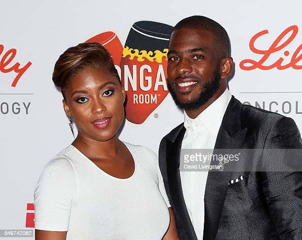 NBA player Chris Paul and wife Jada Crawley attend the 2nd Annual Sports Humanitarian of the Year Awards at the Conga Room on July 12 2016 in Los...