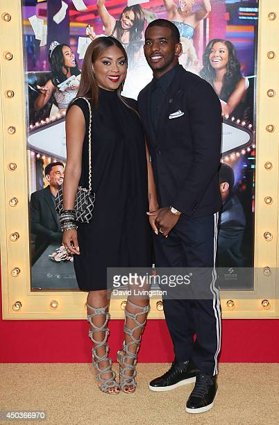 NBA player Chris Paul and wife Jada Crawley attend the premiere of Screen Gems' Think Like a Man Too at the TCL Chinese Theatre on June 9 2014 in...