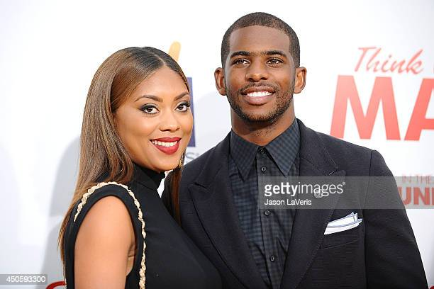 NBA player Chris Paul and wife Jada Crawley attend the premiere of Think Like A Man Too at TCL Chinese Theatre on June 9 2014 in Hollywood California