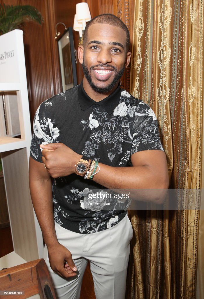 Player Chris Paul attends 2017 Roc Nation Pre-Grammy Brunch at Owlwood Estate on February 11, 2017 in Los Angeles, California.