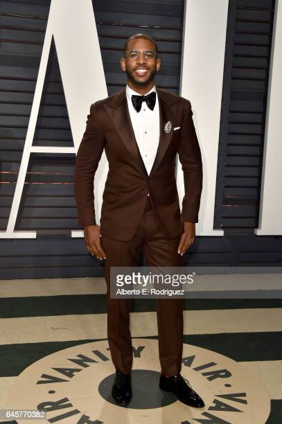 NBA player Chris Paul Chris Paulattends the 2017 Vanity Fair Oscar Party hosted by Graydon Carter at Wallis Annenberg Center for the Performing Arts...