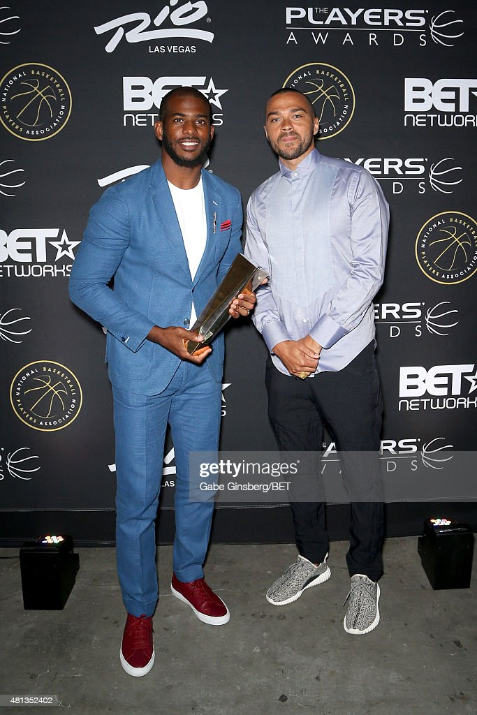 NBA player Chris Paul of the Los Angeles Clippers (L) and actor Jesse Williams attend The Players' Awards presented by BET at the Rio Hotel & Casino on July 19, 2015 in Las Vegas, Nevada.
