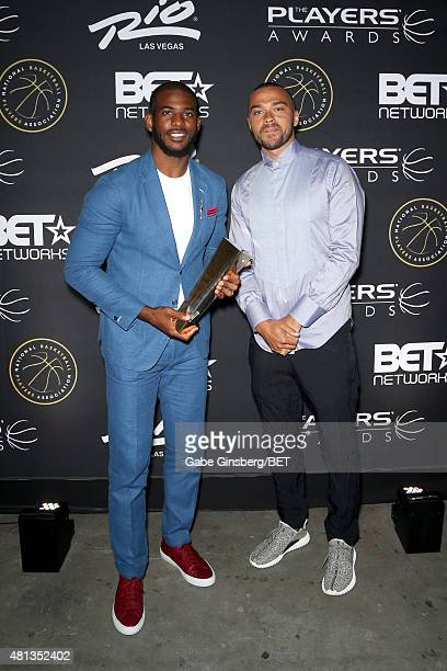 NBA player Chris Paul of the Los Angeles Clippers and actor Jesse Williams attend The Players' Awards presented by BET at the Rio Hotel Casino on...