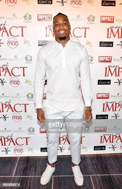 Player Christian Kirksey attends Men of Impact Honoree Dinner at Four Seasons Hotel on June 3 2018 in Atlanta Georgia